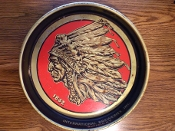 Iroquois Indian Head and Ale Beer Serving Tray