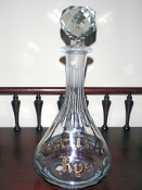 Carlisle Rye Back Bar Bottle Decanter
