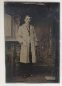 Chemist in White Coat Tintype