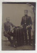 Two German Officers Tintype