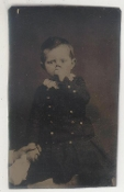 Boy Sucking His Thumb Tintype