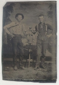 Two Western Men Tintype