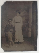 Western Couple Wedding Tintype
