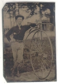 High Wheel Bicycle Tintype