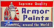 Armor Paints Supreme Quality  Advertising Tin Sign