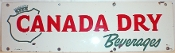 Canada Dry Beverages Porcelain Sign