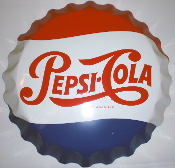 Pepsi Cola Huge Bottle Cap sign