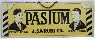Pastum J. Sarubi Co Barber Shop Sign