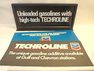 Gulf Becomes Chevron Transitional Techroline 3-In-One Sign