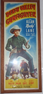 Death Valley Gunfighter Poster Insert Sign