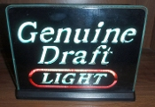 Miller Genuine Draft Light - Light Up Sign