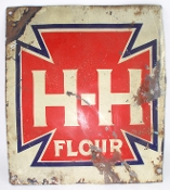 H-H Flour Metal Tin Sign