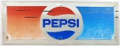 Pepsi Metal Tin Vintage Early 1980's Sign