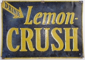 Crush Lemon Soda Cola Old Tin Advertising Cola Sign