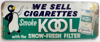 Kool Cigarette Tin Sign We Sell Cigarettes