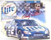 Miller Lite Beer Rusty Wallace No 2 NASCAR Racing Tin Sign