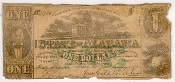 1 Dollar State of Alabama Note 1863 Obsolete Currency