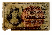 10 Cent Fractional Collectible Currency American Bank Note Co NY