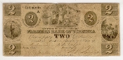 2 Dollar Farmers Bank of Virginia Two Dollar Note