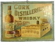 Cork Distillery's Whiskey Co Ltd Old Irish Whiskey Tin Sign