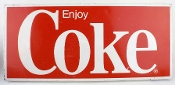 Coca Cola Enjoy Coke Tin Metal Sign