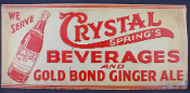 Crystal Springs Beverages and  Gold Bond Ginger Ale sign