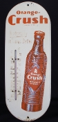 Crush Orange Crush Thermometer Metal Tin Advertising Soda Sign