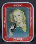 Coca Cola Tray The Smiling Red Haired Girl with Wind In Her Face