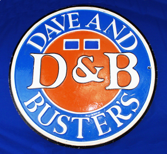 Dave & Busters Shuffle Board Sign D&B