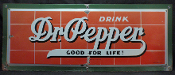 Dr Pepper Good For Life Porcelain 1930s Sign