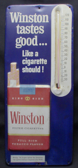 Winston Tastes Good ... Like a Cigarette Should Sign Thermometer
