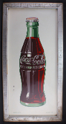 Coca Cola 1940's Gas Station Grocery Store Soda Bottle Sign
