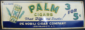 Palm Tobacco Cigars That Different Smoke tin sign 1940's-50's