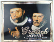 Grolsch Lager Beer A Real Masterpiece from Holland Tin Sign
