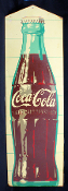 Coca Cola 1950's-60's Vintage Vertical Single Sided Sign