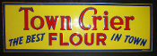 Town Crier Flour 1951 Metal Tin Single Sided Sign