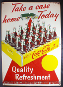 Coca Cola Take a Case Home Today Red Carpet Sign