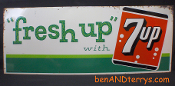 Fresh Up with 7Up Sign Dated 1962