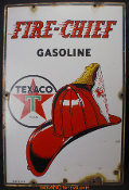 Texaco Fire Chief Gasoline 1947 Porcelain Gas Station Sign