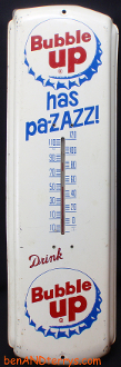 Bubble Up Soda Has pa-ZAZZ! Thermometer Sign