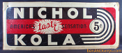 Nichol Kola Soda Old Advertising Tin Cola Sign
