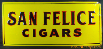 San Felice Cigars Old Tin Advertising Tobacco Cigarette Sign