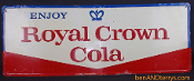 Royal Crown Cola Advertising Old Tin Soda Sign