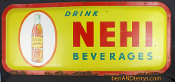Nehi Beverages Soda Cola Orange Advertising heavy Metal Sign