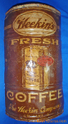 Heekin's Fresh Roasted Coffee Can Metal Sign