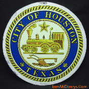 City of Houston Texas Tin Sign