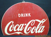 Coca Cola Disc 2-Sided Heavy Metal Sign