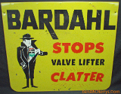 Bardahl Stops Valve Lifter Clatter Metal Sign