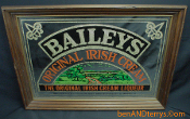 Bailey's Original Irish Cream mirrored bar advertising sign