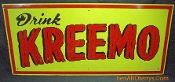Kreemo Root Beer Soda Advertising Embossed Metal Sign